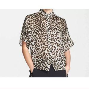 Rag & Bone Leopard Saunders Silk Shirt XS
